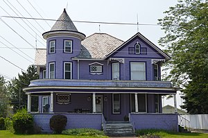 Dunkirk, Ohio - Queen Anne house on Main Street.