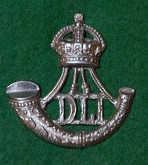Durham Light Infantry - Cap badge of the Durham Light Infantry, King's crown version (1902–53).