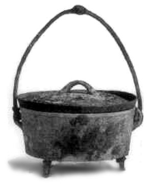 Cast-iron cookware - An American cast-iron Dutch oven, 1896