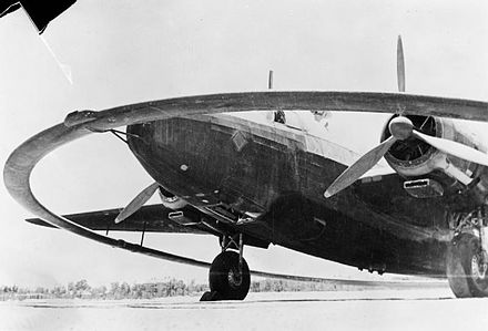 A Vickers Wellington fitted with a DWI, magnetic mine exploder, Ismailia, Egypt Dwi wellington front.jpg