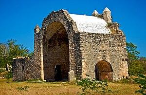 Dzibilchaltun - Ruins of the colonial open chapel