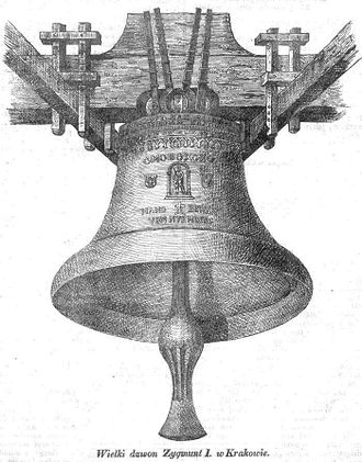 Sigismund Bell - The Sigismund Bell on an 1841 lithograph