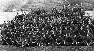 E Company, 506th Infantry Regiment (United States) - Paratroopers of Easy Company, 506th Infantry Regiment in Austria, after the end of World War II, 1945