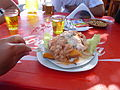 EDWIN CHURA CHAMBILLA --EATING CEVICHE.JPG