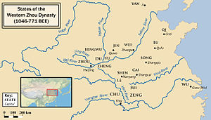 Classic of Poetry - Map of states during Western Zhou period
