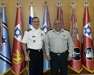 Curtis Scaparrotti - Scaparrotti and Israel's military chief Gadi Eizenkot, 16 August 2016