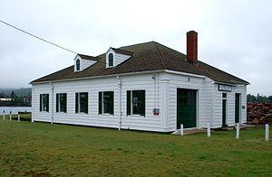 Eagle Harbor Coast Guard Station Boathouse - Image: Eagle Harbor Coast Guard Station Boathouse B