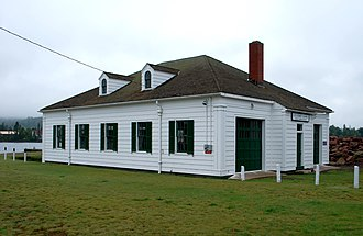 Eagle Harbor Coast Guard Station Boathouse - Image: Eagle Harbor Coast Guard Station Boathouse B