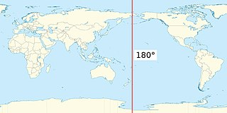 180th meridian is the meridian which is 180° east or west of the Prime Meridian with which it forms a great circle
