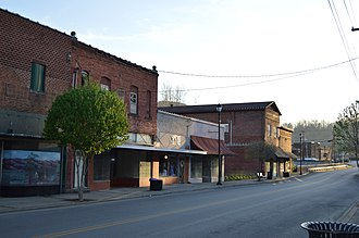 National Register of Historic Places listings in Harlan County, Kentucky - Image: Eastward on Main from Myers