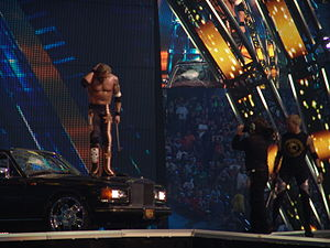 WrestleMania XXVII - After the World Heavyweight Championship match, Edge destroys Alberto Del Rio's car at WrestleMania XXVII