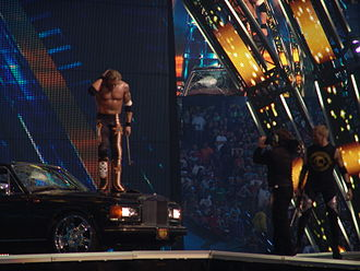 WrestleMania XXVII - After the World Heavyweight Championship match, Edge destroys Alberto Del Rio's car at WrestleMania XXVII