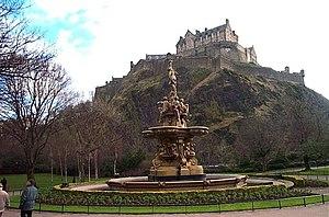 Edinburgh Castle from Princes Street Gardens. ...