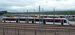 Edinburgh trams at Gogar, 2012 (geograph 3176709).jpg