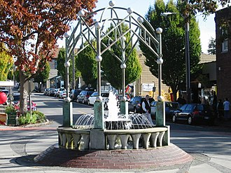 Edmonds, Washington - The Edmonds fountain.