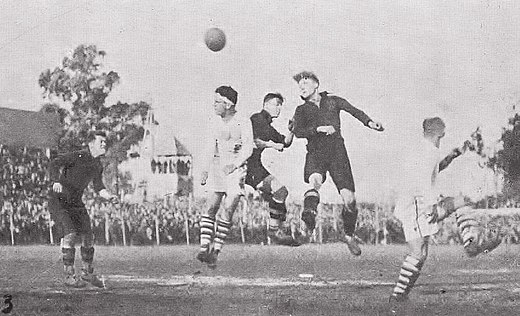United States-Belgium in 1930 was the joint first ever World Cup match. Eeuubelgica1930.JPG
