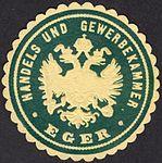 Eger, Siegelmarke der Handels- und Gewerbekammer Eger.jpg
