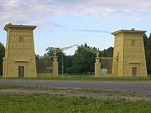 The Egyptian Gates 1827 30 In Tsarskoe Selo St Petersburg
