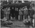 Eleanor Roosevelt and DeGaulle at Franklin D. Roosevelt grave in Hyde Park, New York - NARA - 197068.tif
