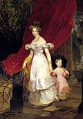 Elena Pavlovna of Russia with daughter Maria by Brullov (1830, Russian museum).jpg