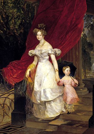 Princess Charlotte of Württemberg - Image: Elena Pavlovna of Russia with daughter Maria by Brullov (1830, Russian museum)