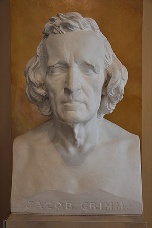 Jacob Grimm - Marble bust of Grimm by Elisabet Ney, carved 1856–58 in Berlin
