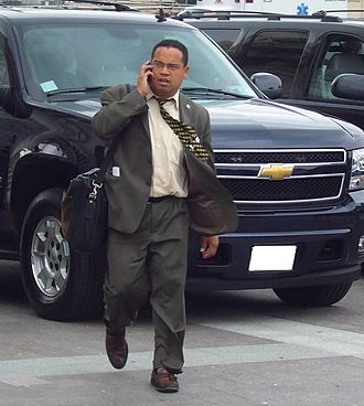 Keith Ellison - Ellison outside the Capitol in June 2007