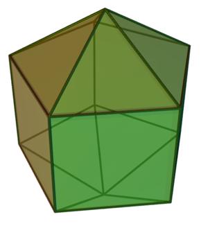Elongated pentagonal bipyramid - Image: Elongated pentagonal dipyramid