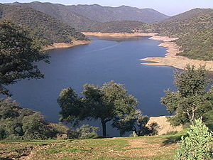 Hurricane Vince - This reservoir in Córdoba, Spain was one of many that benefited from Hurricane Vince's unseasonable rainfall.