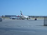 Emirates Airways A330 A6-EAR at Malta International Airport.jpg