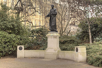 Statue of Millicent Fawcett - The Emmeline and Christabel Pankhurst Memorial in Victoria Tower Gardens in 2015