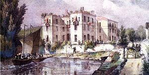 Enghien-les-Bains - The Hotel des Quatre Pavillons, circa 1825