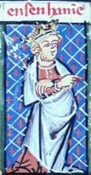 Ensenhamen - Ensenhame personified as a king in the 14th-century Breviari d'amor of Matfre Ermengau.