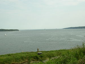 Halifax Harbour - Entrance to Halifax Harbour as seen from Georges Island