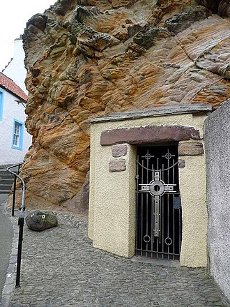Pittenweem - Entrance to St. Fillian's cave