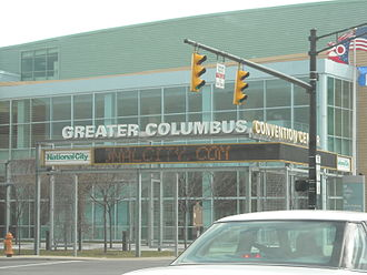 Downtown Columbus, Ohio - Entrance to the Greater Columbus Convention Center.