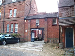 Museum of English Rural Life - The entrance to the Museum of English Rural Life from Redlands Road