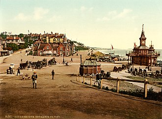 Bournemouth - Photochrom of the entrance to the pier, 1890s