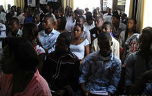 An image of a seated crowd of students at a seminar in Enugu