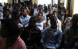 English: Mr. Anthony-Claret Onwutalobi lecturi...