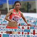 Eri Utsunomiya 100m Hurdles Heptathlon Odisha 2017 (cropped).jpg