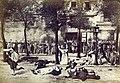 Ernest Eugène Appert, Massacre des dominicains d'Arcueil, route d'Italie no. 38, le 25 mai 1871, à 4 heures et demie (cropped).jpg