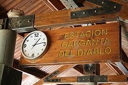 Estación Garganta del Diablo (Cataratas del Iguazú), nomenclador.JPG