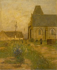 Landscape with a Church and a Graveyard