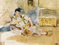 Eugene Delacroix, Woman seated (Study for Femmes d'Alger dans leur Appartement),.png