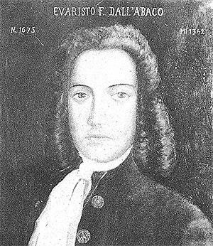 Evaristo Felice dall'Abaco (12 July 1675 – 12 ...
