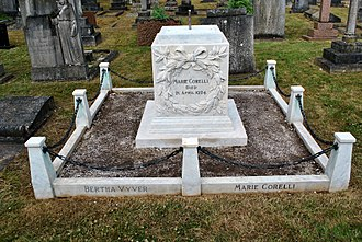 Marie Corelli - Marie Corelli died in Stratford and is buried there in the Evesham Road cemetery.