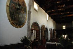 Visual arts of Mexico - Former Convent of San Francisco, in Tlaxcala, Mexico.
