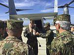 Exercise Iron Fist 2016, Maj. Gen. Shinichi Aoki Osprey Flight 160226-M-VB498-001.jpg