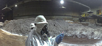 Vernon, California - Inspection photo of the slag heap at the Exide facility in April 2014